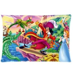 """Peter Pan Disney Pillowcase Standard Size 20""""x30"""" PWC1829 by Peter Pan Pillowcase, http://www.amazon.com/dp/B00C16P9P2/ref=cm_sw_r_pi_dp_.4Wbsb005GNPW"""