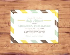 Printable Invitation for Baby Shower or Special Occasion. $15.00, via Etsy.