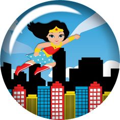 Edible Paper in Creatividades: Mujer Maravilla / Wonder Woman Wonder Woman Birthday, Wonder Woman Party, Girl Birthday, Tag Png, Girls Party, Oh My Fiesta, Hero Girl, Kid Character, Superhero Party