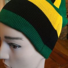 Extra long beanie.......soft stretchy fit can be worn as a beanie or slouchy beanie Black, Green, yellow Size 11 x 7 Lida Collection  Accessories Hats