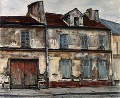 Takanori Oguiss - Vieille maison de Bagnolet, Paris; Creation Date:Circa 1982; Medium: oil on canvas; Dimensions: Height: 71.12 cm.