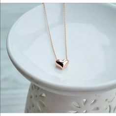 Heart necklace, Rose gold It's here!! Buy until the listings stop! New Heart necklace, Rose Gold! NWT No Offers! Jewelry Necklaces