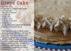 Quick and easy Whipped Lightning crepe cake. Give it a try, and tell us what you think!