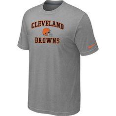 Nike Cleveland Browns Heart & Soul NFL T-Shirt - Grey