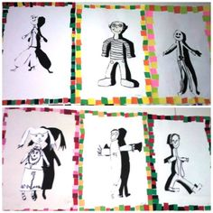 Best 11 Positive and negative project for fourth grade: build off of figure drawings – SkillOfKing. Group Art Projects, School Art Projects, 5th Grade Art, Fourth Grade, Elementary Art Rooms, Art Activities For Toddlers, Jr Art, Middle School Art, Elements Of Art