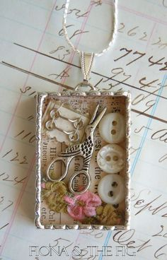 Fiona & The Fig Victorian Sewing Assemblage by FionaAndTheFig