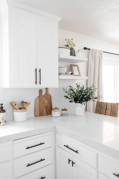 Rustic Kitchen Design, White Kitchen Decor, Home Decor Kitchen, New Kitchen, Home Kitchens, Diy Home Decor, Kitchen Ideas, Country Kitchens, Kitchen Modern