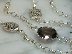 Silberketten - Discokugel Collier Rauchquarz XL Kette Solitae... - ein Designerstück von TOMKJustbe bei DaWanda