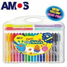 韓國AMOS 24色細水蠟筆