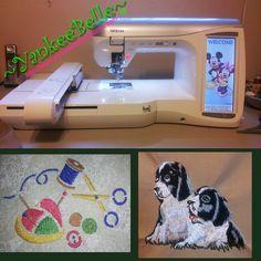 Brother Duetta 4500d - Custom Embroidery at:  YankeeBelleCreations.com