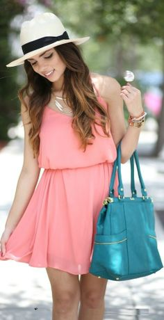Street style mini pink summer dress for ladies...(click on picture to see more stuff)