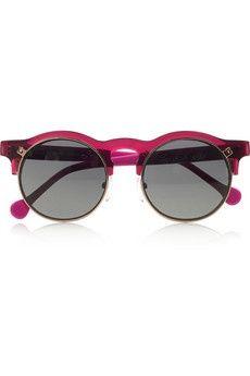 ShopStyle  Carven Anastasie flip-up round-frame acetate sunglasses d69e7b991e4f4