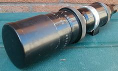 """Dallmeyer 12"""" f / 4.5 Telephoto Lens #527528 with Front Sun Hood Lens Cap. Can be adapted to any camera."""