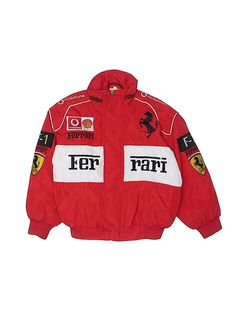 Ferrari Jacket Size: Small Jackets & Outerwear - used. No Fabric Content Nascar Jackets, 90s Inspired Outfits, Outerwear Jackets, Red Jackets, Jordan Outfits, Winter Fashion Outfits, Vintage Jacket, Unisex, Streetwear Fashion