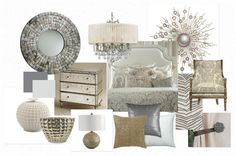 hollywood glam master bedroom - Google Search