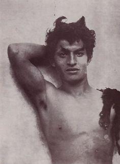 Wilhelm Von Gloeden Young man representing the old Greek shepherd god Pan, Taormina, Sicily, c.1910
