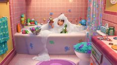 Rex becomes a bath toy raver in new Toy Story short Partysaurus Rex Walt Disney Pictures, Disney Fan, Disney Pixar, Emoji Wallpaper, Disney Wallpaper, Disney Channel, Toy Story Toons, Disney Bathroom, New Toy Story