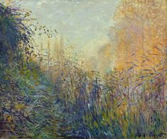 Study Rushes at Argenteuil, 1876, Claude Monet
