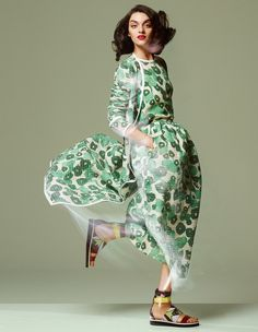 Printed spring coats: How To Spend It Magazine January 2015 - Max Mara