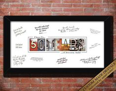50 YEAR 50th Birthday Gift For Him Men Husband Idea Cheers To Years Decorations Sign