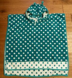 hooded poncho towel with free pattern