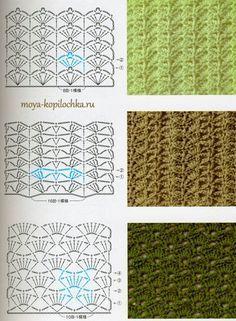 98 узоров и мотивов, связанных крючком - Вязание - Моя копилочка