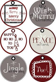 Poppies at Play: Printable Christmas Gift Tags