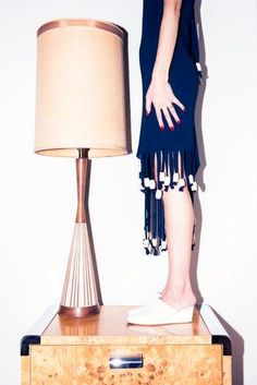 Table dancing approv     Table dancing approved Reed Krakoff slip ons.  www.thecoveteur.c...
