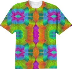 T-shirt in colorful  symphoni from Print All Over Me