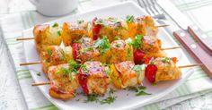 Recette de Brochettes de poulet grillées aux poivrons. Facile et rapide à réaliser, goûteuse et diététique. Ingrédients, préparation et recettes associées.