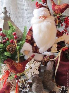 Куклы Тильды ручной работы. Ярмарка Мастеров - ручная работа Нарядный Санта !!!! с большим мешком). Handmade.