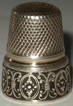 Vintage German Sterling Silver Thimble - Lutz Weiss