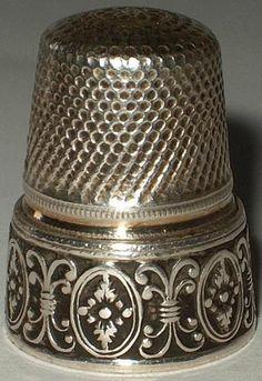 Vintage German Sterling Silver Thimble Ornate Border Lutz Weiss | eBay  Aug 04, 2013 / GBP 103.99 / 5,306.46 RUB
