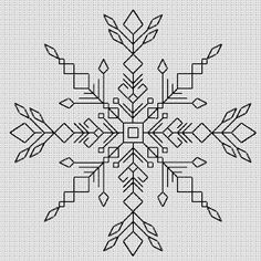 Blackwork Snowflake 1