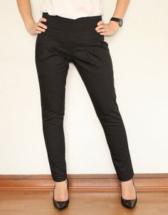 Wool Pants High Waisted Pants in Dark Gray for Women Office ...