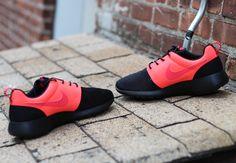 Nike Roshe Run Split- Black & Atomic Red