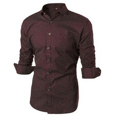 Casual Business Fashion Cotton Slim Dots Printed Stitching Long Sleeve... (€16) ❤ liked on Polyvore featuring men's fashion, men's clothing, men's shirts, men's casual shirts, mens short sleeve dress shirts, mens cotton dress shirts, mens slim fit casual shirts, mens slim fit dress shirts and mens collared shirts