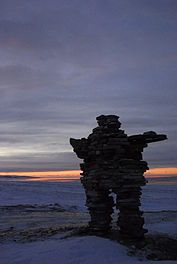 Inuksuk - These carefully balanced stone formations built by the Inuit became a symbolic memorial to my dear companion Anthony during my Arctic walkabout 20 years ago.