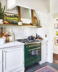 green range // white zellige kitchen backsplash