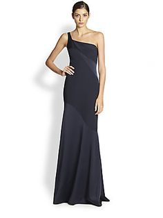 David Meister One-Shoulder Gown size 4 and 6 sku 0474800699861