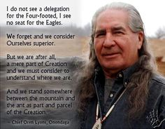 Chief Oren Lyons, Onondaga
