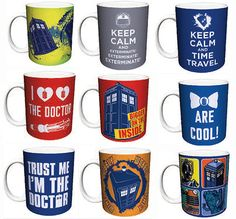 Bigger on the Inside, Bow Ties Are Cool!, D Wibbly Wobbly Timey Wimey Orange, Doctor Who Cartoons Blue, Doctor Who Keep Calm and Time Travel and more…