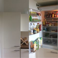 Binnen- en buitenkant koelkast
