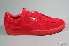 Puma suede mono iced red