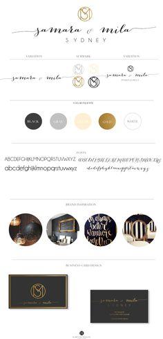 Samara & Mila · Hamptons Designs #logo #custom #branding #brand #stylist #graphicdesigner #gold #logos #concepts #businesscard