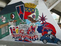 PSG Psg, Graffiti Art, Wall Murals, Street Art, Soccer, Football, Wallpaper Murals, Futbol, Futbol