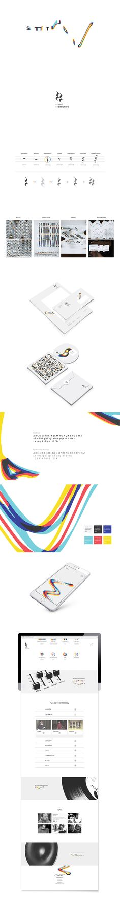 Studio Symphonico - music counsulting - brand identity - corporate - graphic design - lettering - distortion - glitch - by Drogheria Creativa