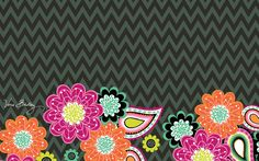Dress your tech: Ziggy Zinnia Desktop Wallpaper | Vera Bradley