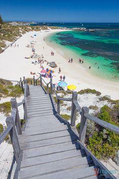 Pinky Beach on Rottnest Island in Western Australia