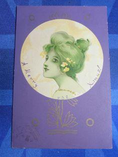 Raphael Kirchner ? R Tuck & Sons Glamour Postcard 1902 Art Nouveau Theme